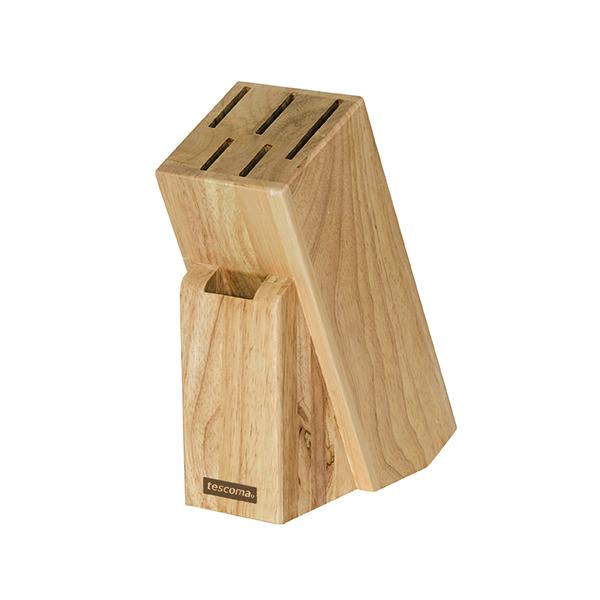 Дървен блок Tescoma, 5 ножа и ножица