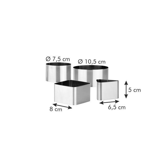 Комплект форми, Tescoma, GrandChef, 4 бр.