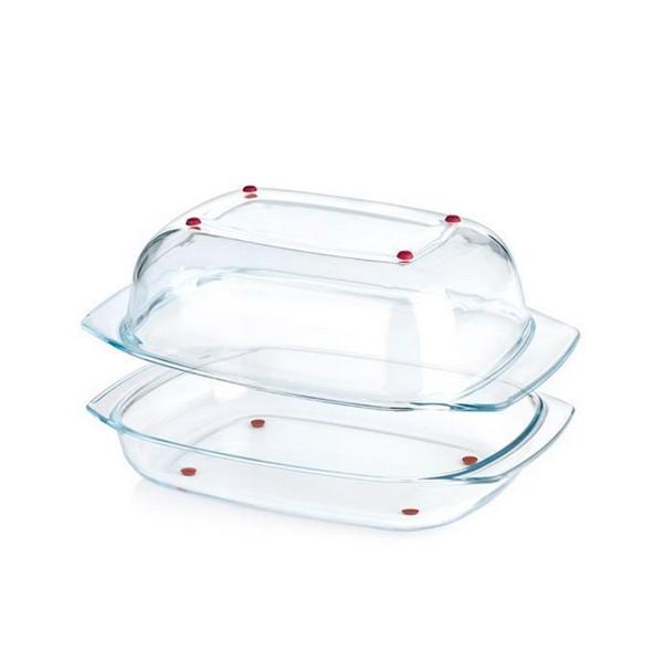 Термоустойчив съд за печене с капак Tescoma Delicia Glass