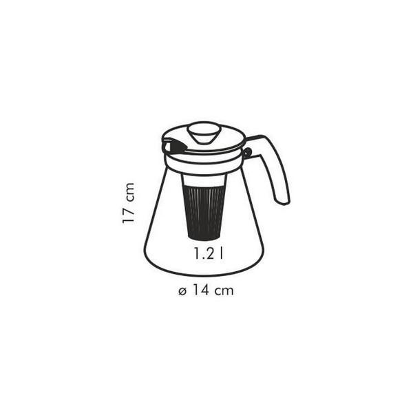 Кана за приготвяне на чай Tescoma Teo 1,25L