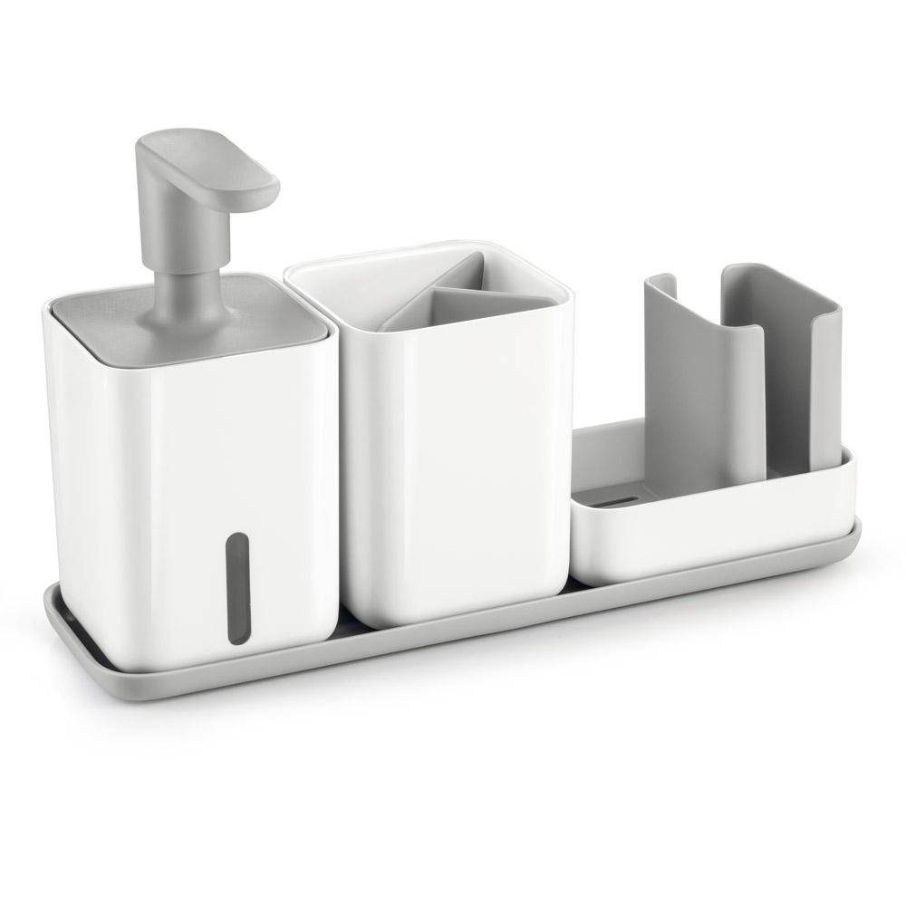 Органайзер за мивка с дозатор за течен сапун и чашка Tescoma Puro
