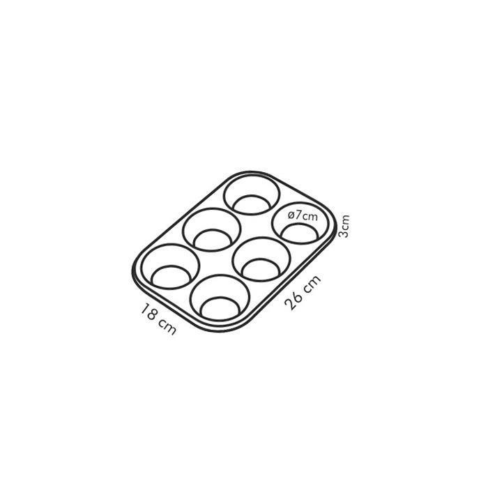Форма за печене Tescoma Delicia, 6 мъфин
